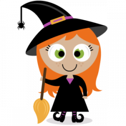 witch clipart cute