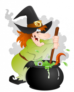 witch clipart scary