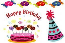 free birthday clipart january