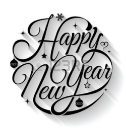 happy new year clipart cursive writing