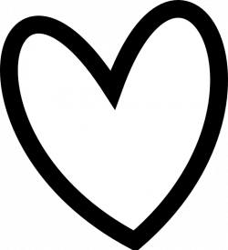 heart clipart black and white outline