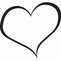 heart clipart black and white love