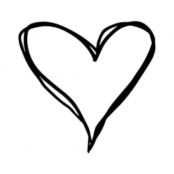 heart clipart black and white vector