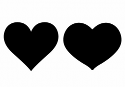 heart clipart black and white silhouette