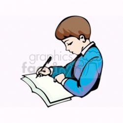 homework clipart writing