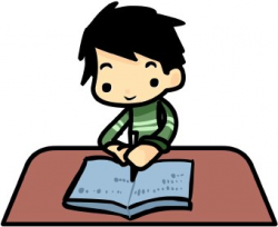 student clipart writing