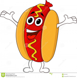 hot dog clipart animated
