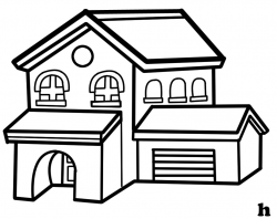 house clipart black and white small