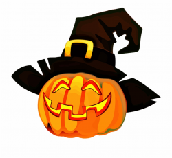 jack o lantern clipart witch hat