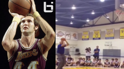 jerry west logo shooting