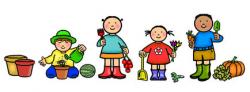 kids clipart garden