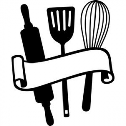 baking clipart silhouette