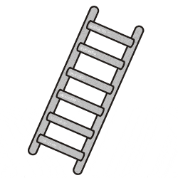 ladder clipart coloring page