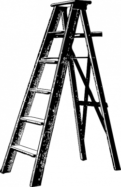 ladder clipart silhouette