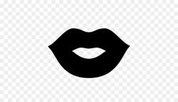lip clipart silhouette