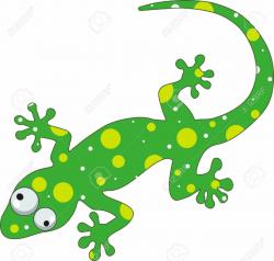 lizard clipart garden