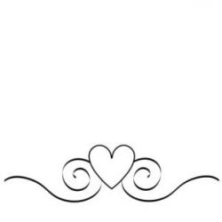 heart clipart black and white design