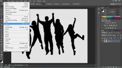 how to make an image transparent photoshop cs6