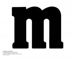 m&m logo font