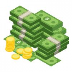 money transparent vector