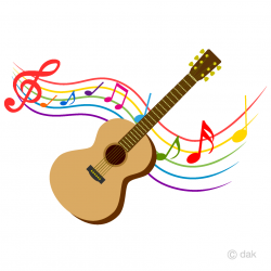 guitar clipart colorful