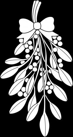 mistletoe clipart white
