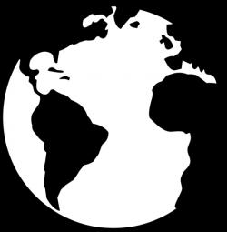 earth clipart black
