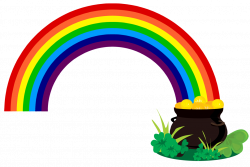 pot of gold clipart clover