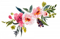 Flower clipart floral watercolor