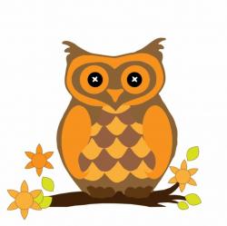 orange clipart owl