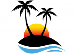 sunset clipart tropical