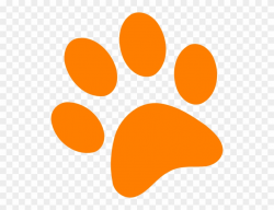 paw prints clipart orange