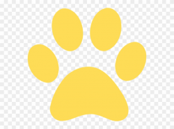 paw prints clipart yellow