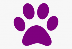 paw prints clip art purple