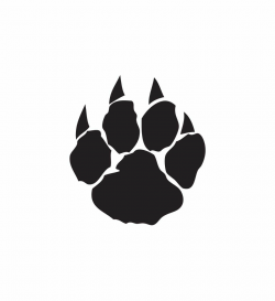 paw prints clip art wildcat