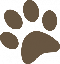 paw prints clipart brown