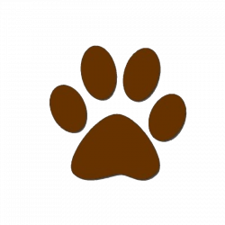 paw prints clip art brown