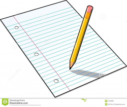 paper clipart writing