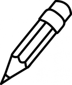 pencil clipart black and white writing