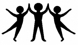 People clipart together