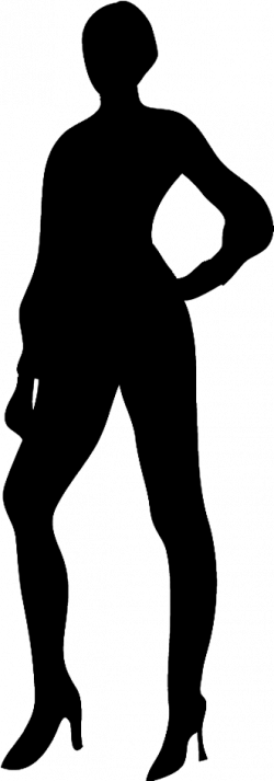person silhouette clipart woman