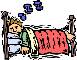 bed clipart person