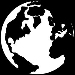 earth transparent black