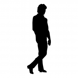 person silhouette clipart walking away