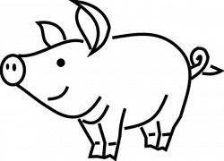 pig clipart black and white small