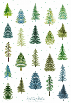 forest clipart watercolor