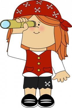 pirate clipart telescope