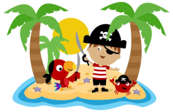 pirate clipart island
