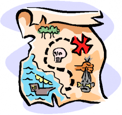 pirate clipart map