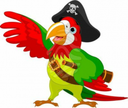 pirate clipart parrot